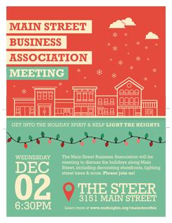 main street business association meeting december 2nd university