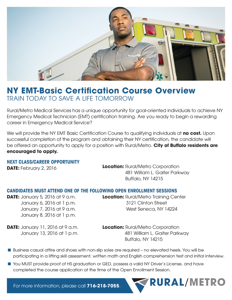 EMT Basic Certification Course | University Heights Collaborative